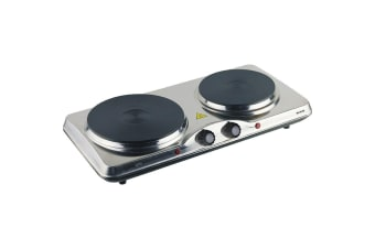 Maxim HP2 Portable Electric Dual hot Plate Cooker HotPlate Cooktop/Caravan/Stove