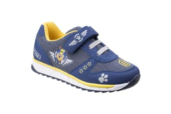 Leomil Childrens Boys Chase Touch Fastening Paw Patrol Trainers (Dark Blue) (10 Child UK)