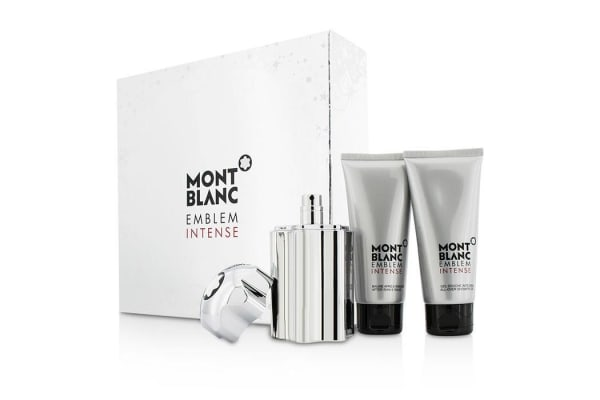 Mont Blanc Emblem Intense Coffret: Eau De Toilette Spray 100ml/3.3oz + Shower Gel 100ml/3.3oz + After Shave Balm 100ml/3.3oz (3pcs)