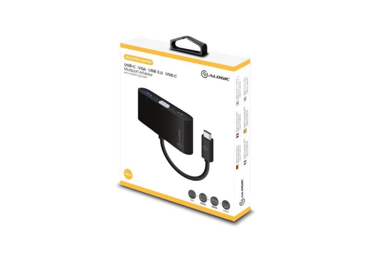 Alogic USB-C MultiPort Adapter with VGA/USB 3.0/USB-C Power Delivery - MP-UCVGCHG2