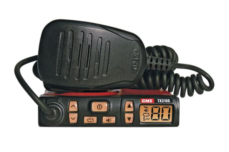 GME TX3100DP 5 Watt 477MHz 80 Channel UHF Super Compact Radio