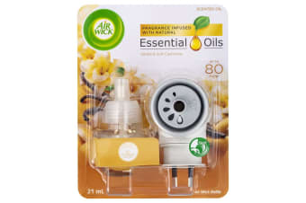 Air Wick 21ml Essential Oils Refill w/ Electric Diffuser Vanilla/Soft Cashmere