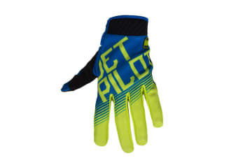 JetPilot Phantom Super Lite Watersport Gloves - Blue/Lime - X-Large