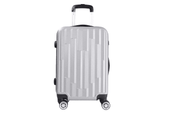 Lenoxx Hard Case Lightweight Luggage with USB Port For Charging - Silver