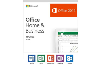Microsoft Office Home and Business 2019 Medialess Retail Box Word Excel PowerPoint Outlook - T5D-03251