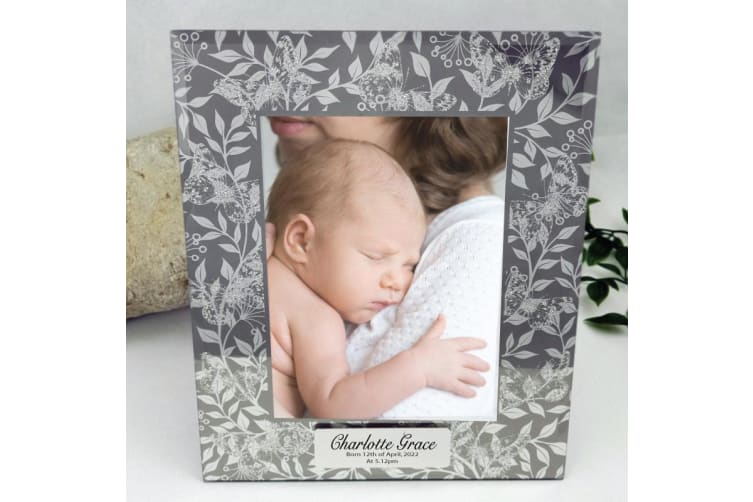 Personalised Baby Frame 5x7 Photo Glass Mist