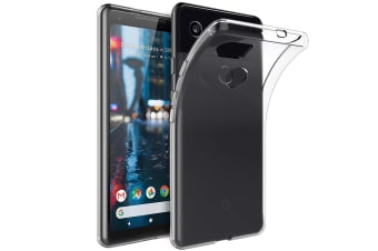 Google Pixel 3 XL Ultra Slim Premium Crystal Clear TPU Gel Back Case by MEZON – Shock Absorption, Wireless Charging Compatible – With Screen Protector (Pixel 3 XL, Gel)