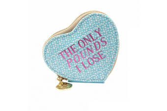 Sweet Tooth Womens/Ladies The Only Pounds I Lose Heart Purse (Blue)