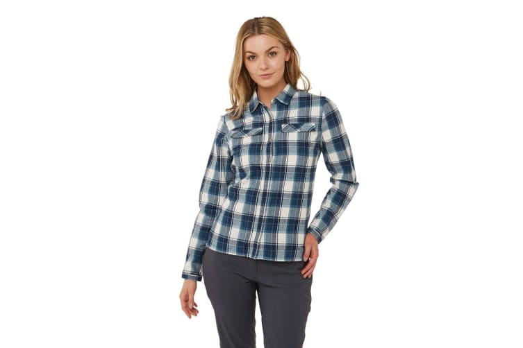 Craghoppers Womens/Ladies Dauphine Long Sleeved Shirt (Blue/Navy Check) (18 UK)