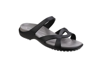 Crocs Womens/Ladies Meleen Lightweight Twist Sandal (Black/Smoke) (5 UK)