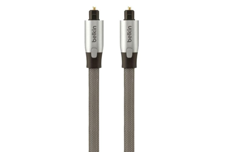 5x Belkin 1m Ultimate Digital Optical Audio Toslink Cable 5.1 7.1 Surround Sound