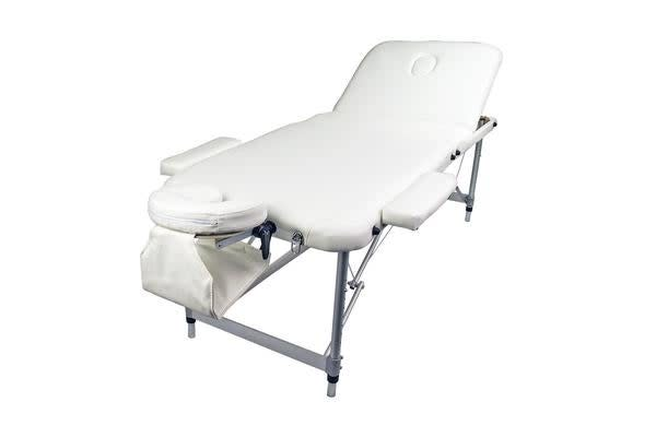 Aluminium Portable Massage Table 70cm - WHITE