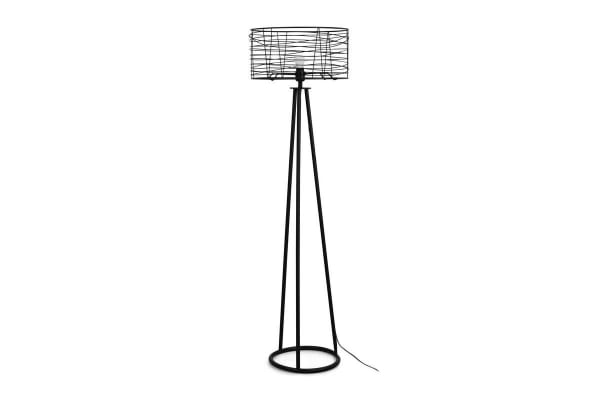 Ovela Industrial Style Wound Wire Floor Lamp