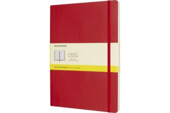 Moleskine Classic XL Soft Cover Notebook (Scarlet Red) (One Size)