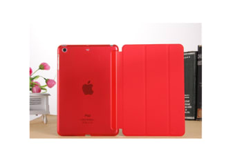 Premium Leather Business Slim Folding Stand Folio Cover For Ipad Red Ipad2/3/4