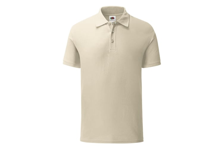 Fruit Of The Loom Mens Iconic Pique Polo Shirt (Natural) (XXL)