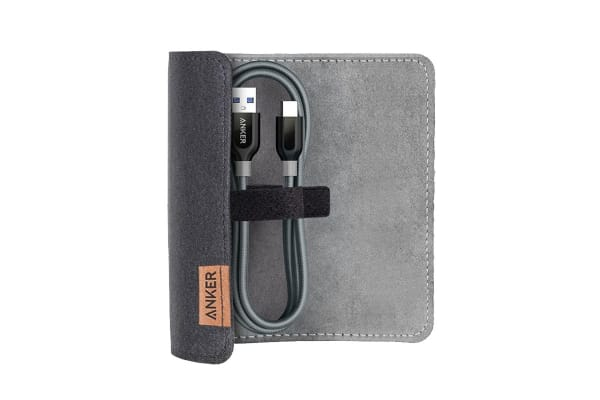 Anker PowerLine+ USB-C to USB 3.0 0.9m Gray with Pouch (A8168HA1)
