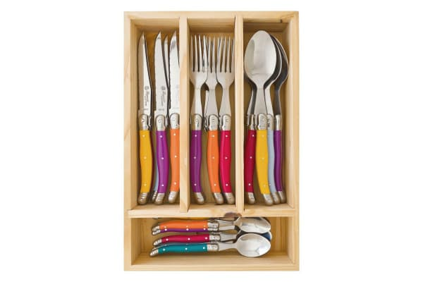 Laguiole by Louis Thiers Toujours 24 Piece Cutlery Set - Multi Coloured