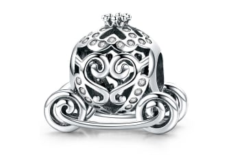 .925 Royal Pumpkin Carriage CZ Charm