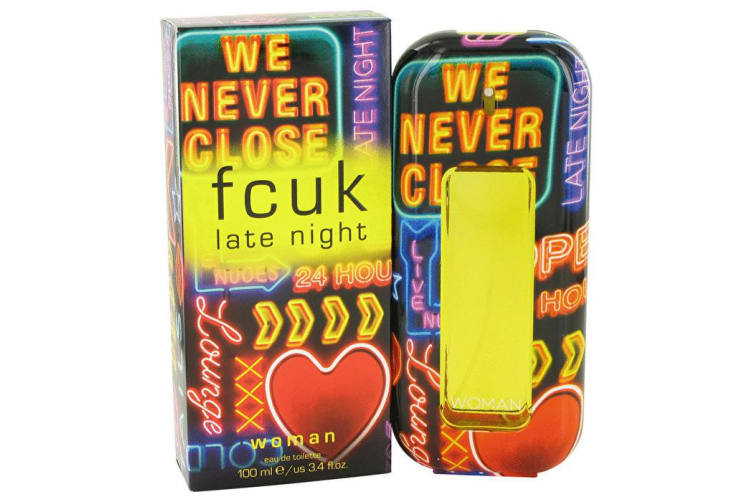 French Connection Fcuk Late Night Eau De Toilette Spray 100ml/3.4oz