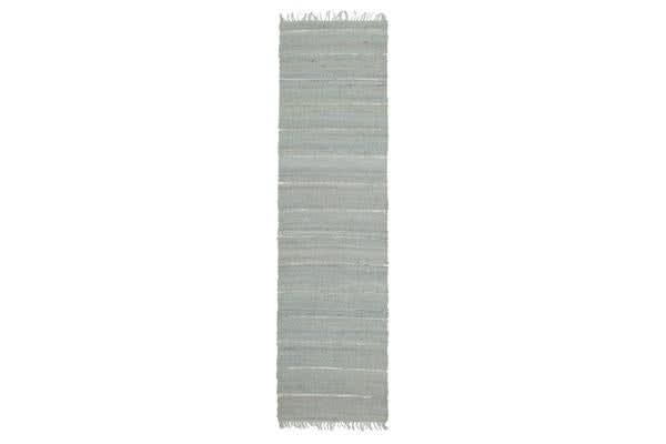 Saville Jute and Leather Rug Blue 400x80cm