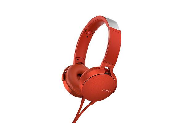 Sony MDR-XB550APR Headphone Extra Bass On-Ear  - Red Bass