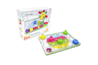 Lalaboom Peg Board with Beads (20 pcs)