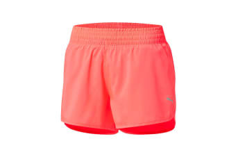 "Puma Women's Core-Run 3"" Shorts (Paradise Pink, Size S)"