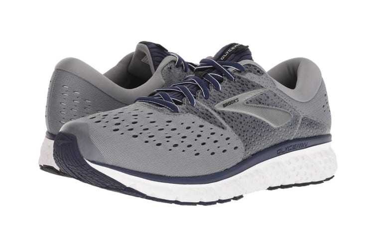 Brooks Men's Glycerin 16 (Grey/Navy/Black, Size 9.5)