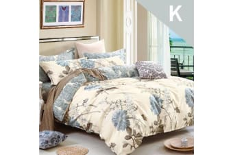 King Size Dandelion Design Cotton Quilt Cover Set