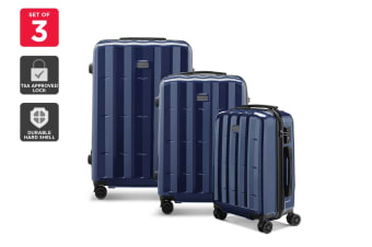 Orbis 3 Piece Azores Spinner Luggage Set (Navy)