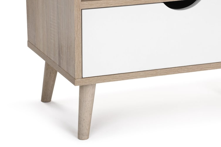 Shangri-La TV Entertainment Unit - Nyhavn Collection (170cm, White & Oak)