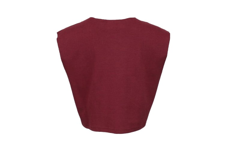 Puma Women's Sleeveless Fenty Cropped Top (Burgundy, Size L)