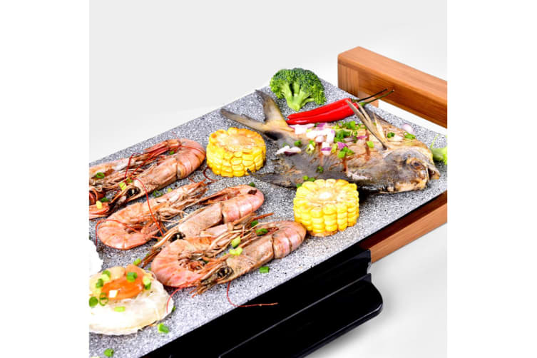 Electric Ceramic BBQ Grill Non-stick Surface Hot Plate for Indoor & Outdoor Stone