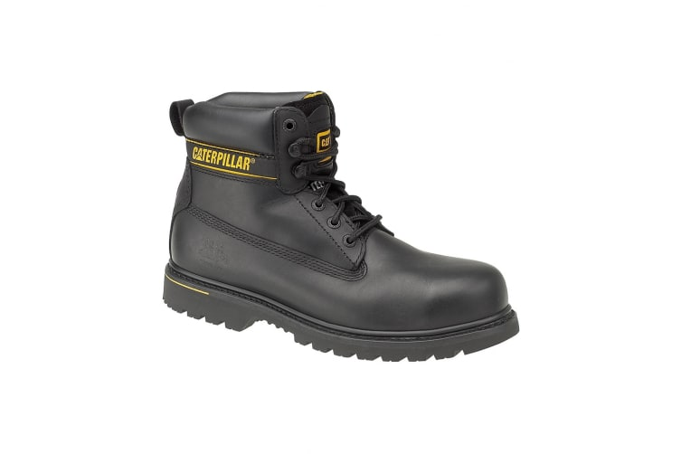 Caterpillar Holton SB Safety Boot / Mens Boots / Boots Safety (Black) (7 UK)