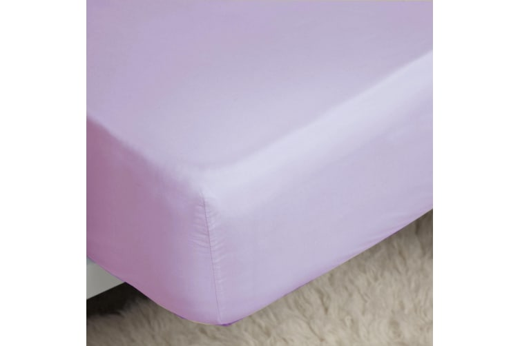 Belledorm 200 Thread Count Cotton Percale Extra Deep Fitted Sheet (Lilac) (Kingsize)