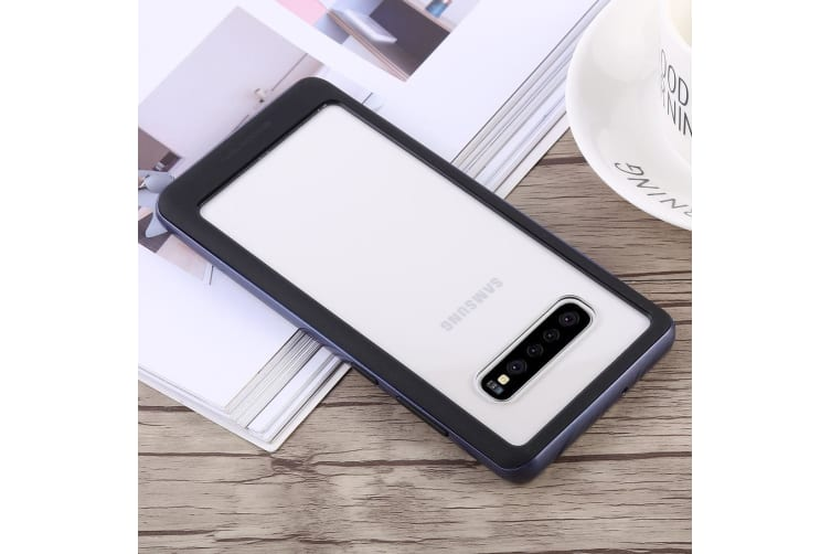 For Samsung Galaxy S10+ Case Purple Bumper X Shockproof PC and TPU Cover