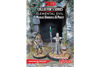 D&D Elemental Evil Marlos Urnrayle & Earth Priest (2 Figs)