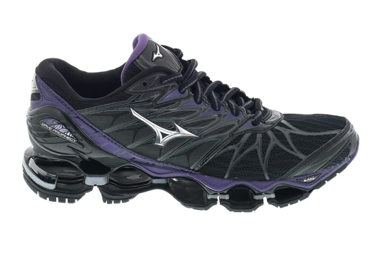 best authentic 37176 8a842 Mizuno Women's WAVE PROPHECY 7 Running Shoe (Black, Size 9 US)