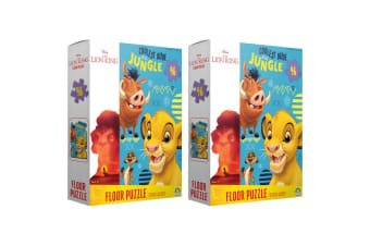 2x 46pc Lion King Floor Jigsaw Puzzle Game Kids/Child Educational Toys 3y+ w/Box