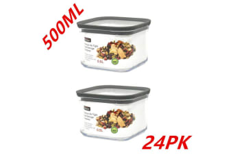 24 x Pantry Storage Food Containers 500ML Bin Canister Kitchen Organizer Jars