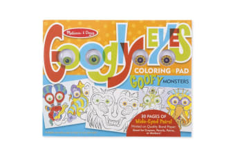 Melissa and Doug Googly Eyes Coloring Pad - Goofy Monsters