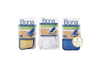 Bona Pack Microfibre Applicator/Cleaning/Dusting Pad for Spray Mop Floor Cleaner