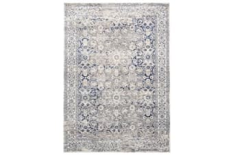 Isfahan Transitional Modern Rug Navy White Grey