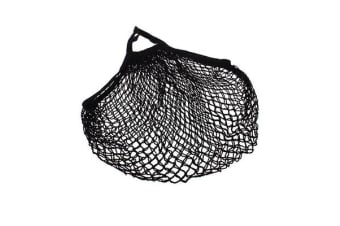 Appetito Cotton String Bag Short Handle Black