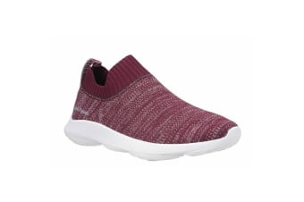 Hush Puppies Womens/Ladies Free BounceMAX Slip On Trainer (Dark Wine Knit) (8 UK)