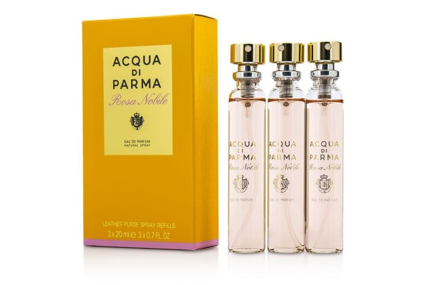 Acqua Di Parma Rosa Nobile Leather Purse Spray Refills Eau De Parfum (3x20ml/0.7oz)