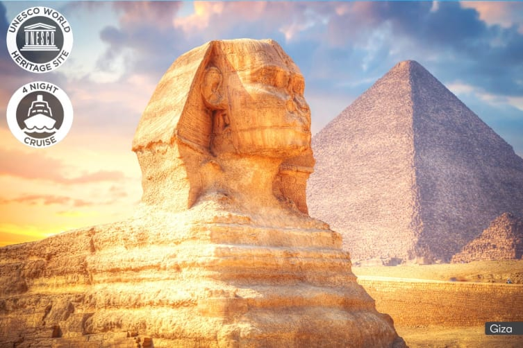 EGYPT: 9 Day Cairo & Nile Cruise Package for Two