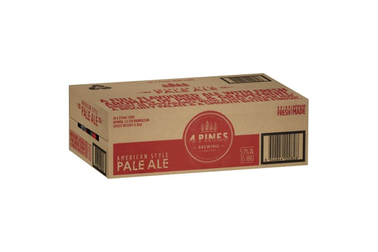 4 Pines Pale Ale  Beer 24  x 375mL Cans