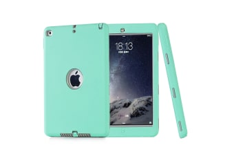 Heavy Duty Shockproof Case Cover For iPad Mini 4-Mint Green/Grey
